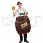 Disfraz barril cerveza para hombre