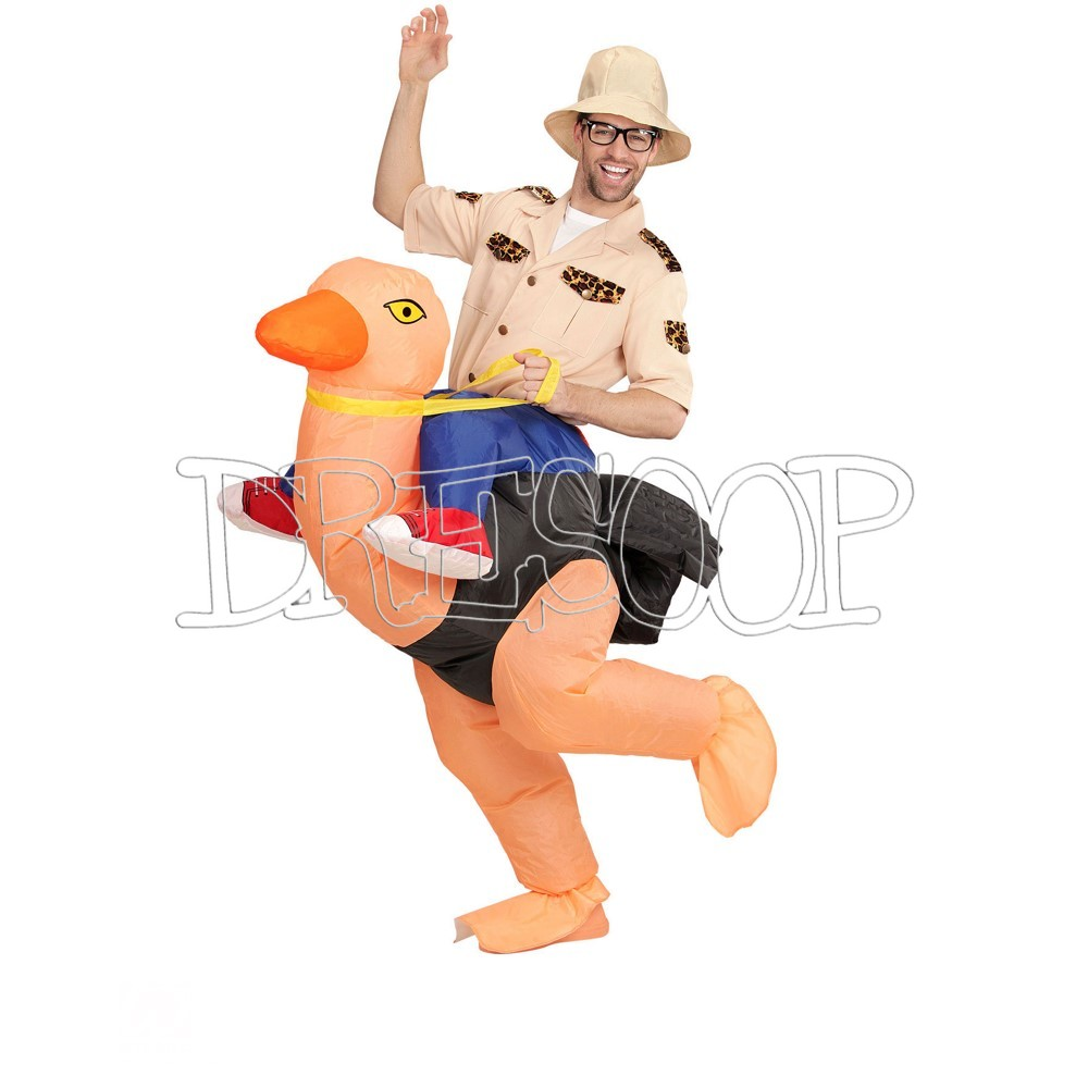 Disfraz Explorador sobre avestruz para hombre