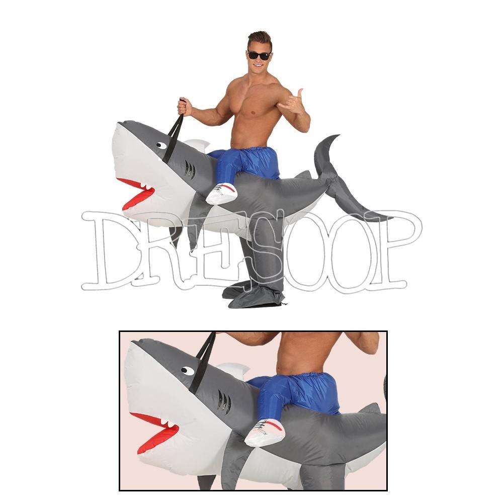 Disfraz Surfero sobre tiburón para hombre