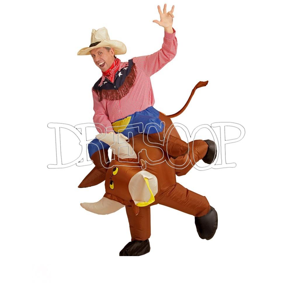 Disfraz Toro Rodeo Hinchable para adultos