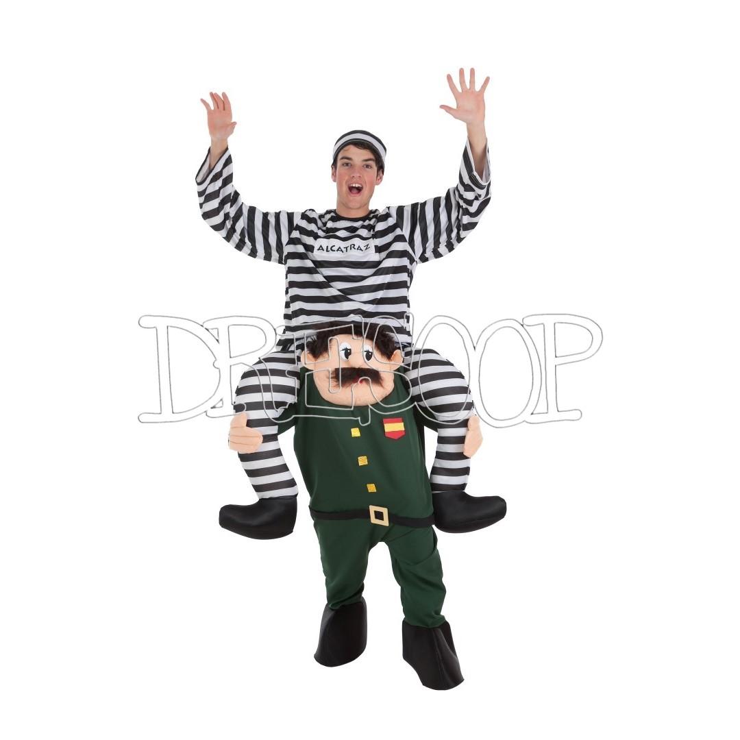 Disfraz Guardia Civil con preso para adulto