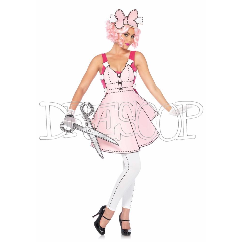 Disfraz Muñeca Papel para mujer