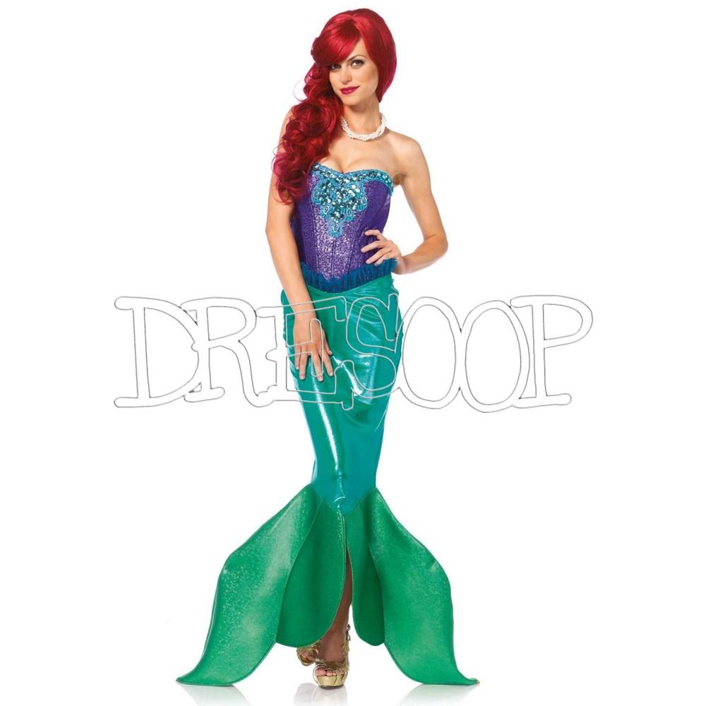 Disfraz Sirena fondo del mar para mujer