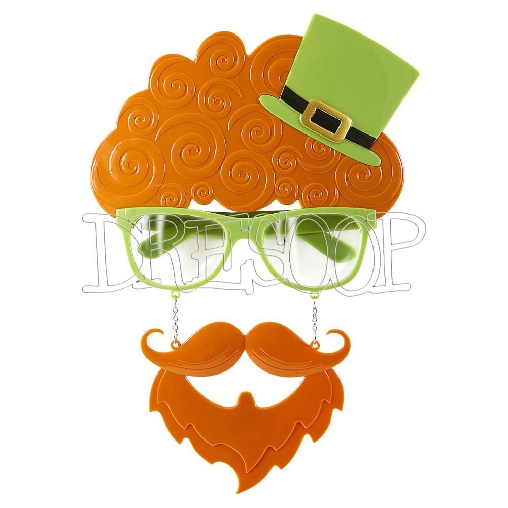 Gafas San Patricio con barba para adultos