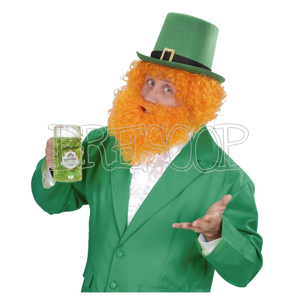 Peluca y barba naranja