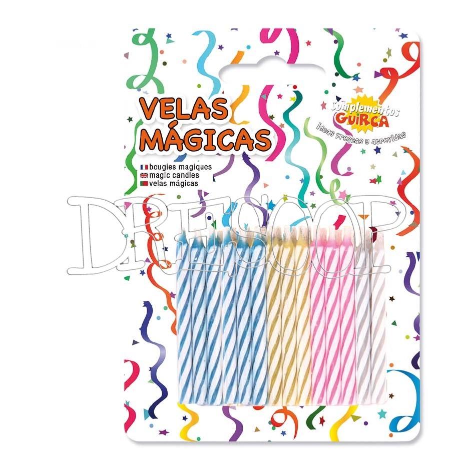 Blister 24 Velas cumpleaños mágicas