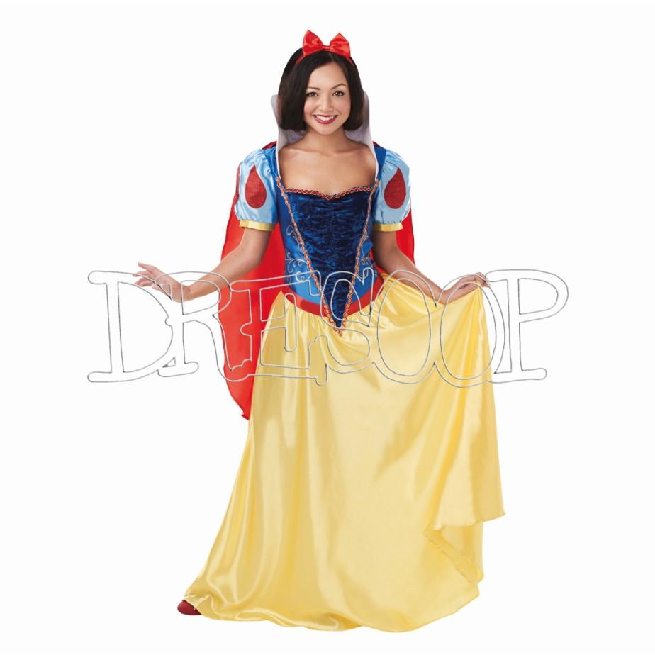 Disfraz Blancanieves delux para mujer