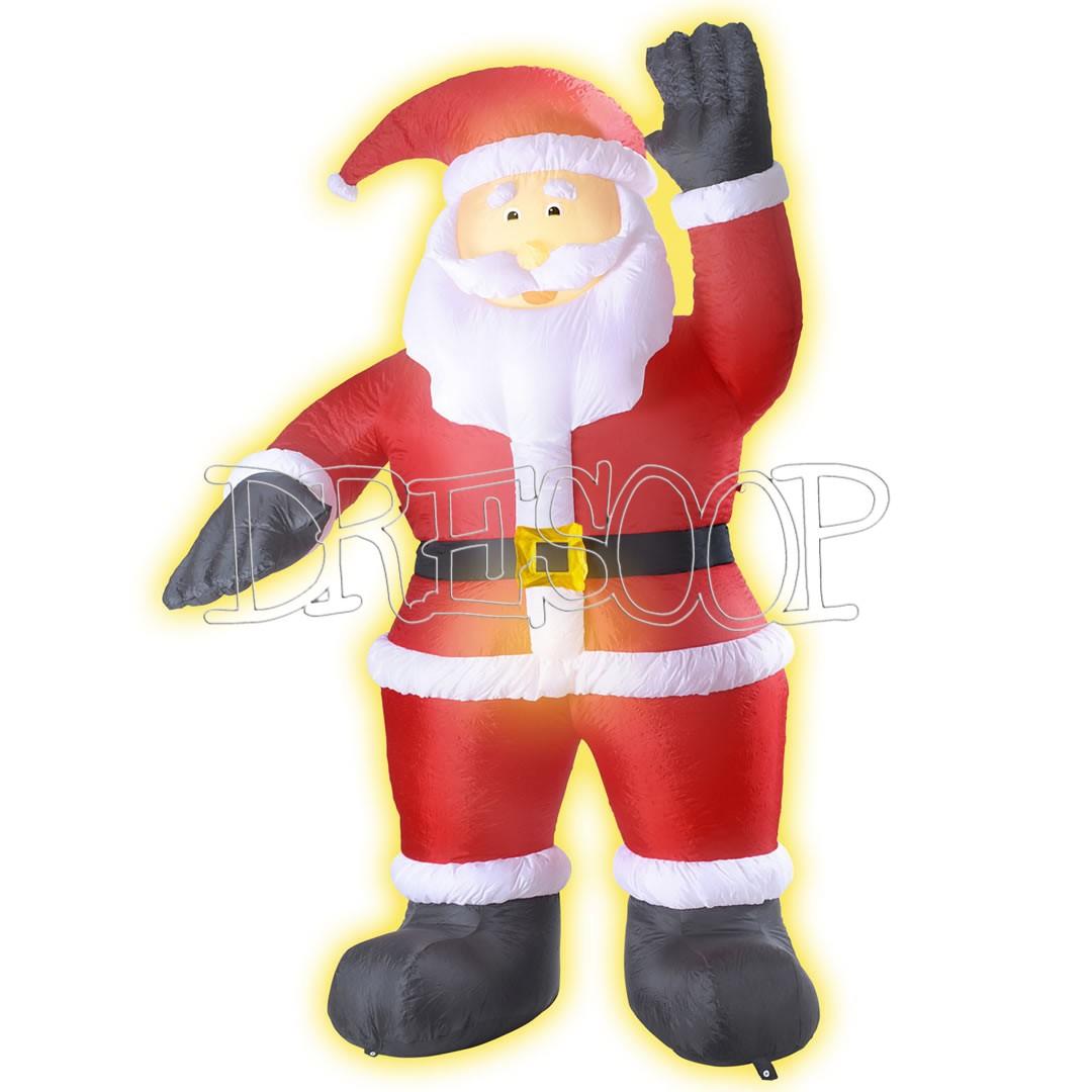Papá Noel hinchable gigante decoración de Navidad