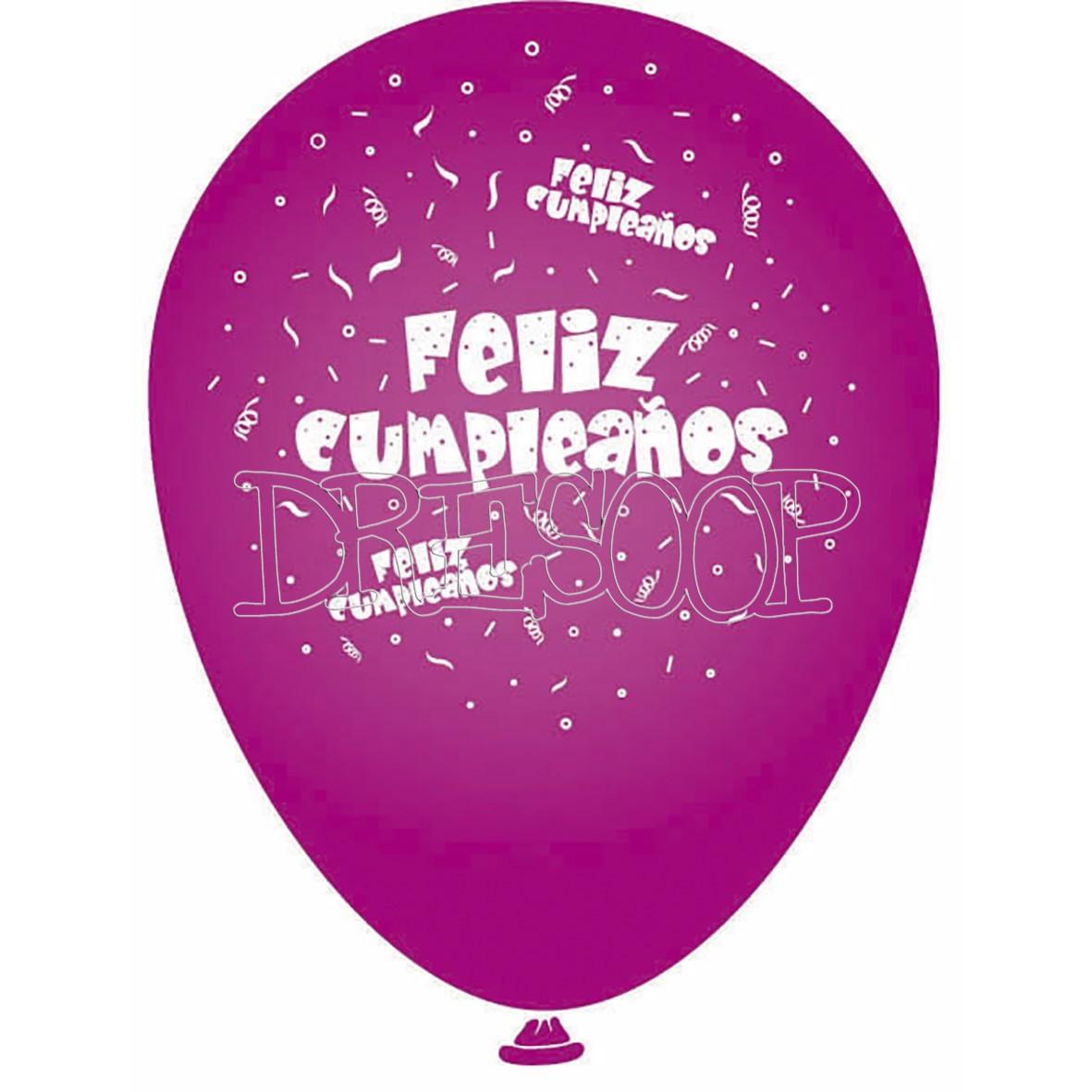 Set globos Feliz Cumpleaños