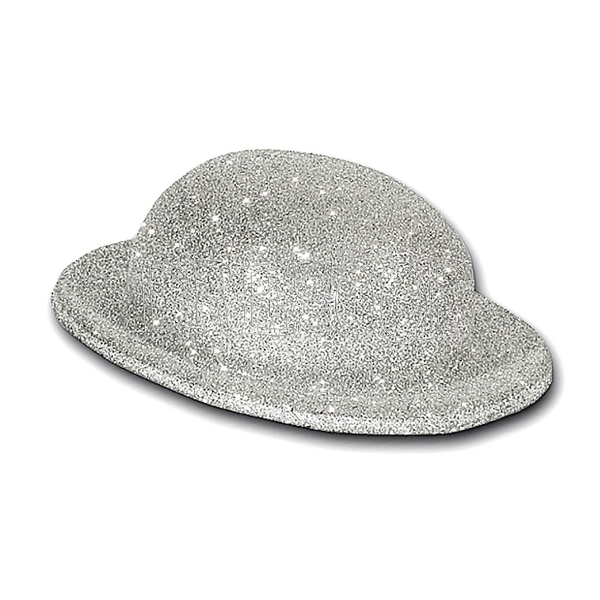 Bombín escarcha plata