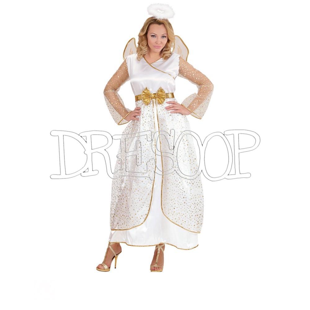 Disfraz Ángel dorado para mujer