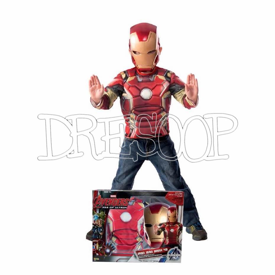 Disfraz Iron Man Av2 en caja para niño
