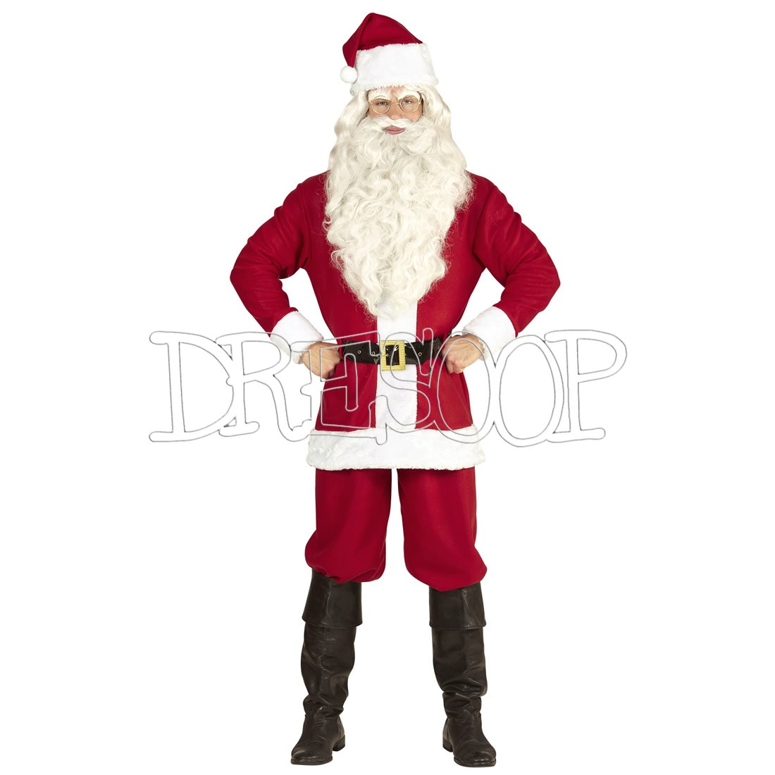 Disfraz Papá Noel grande para hombre