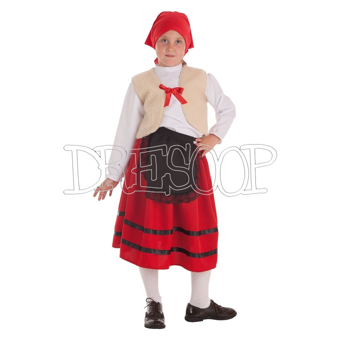 Disfraz Pastorcita chaleco para niña