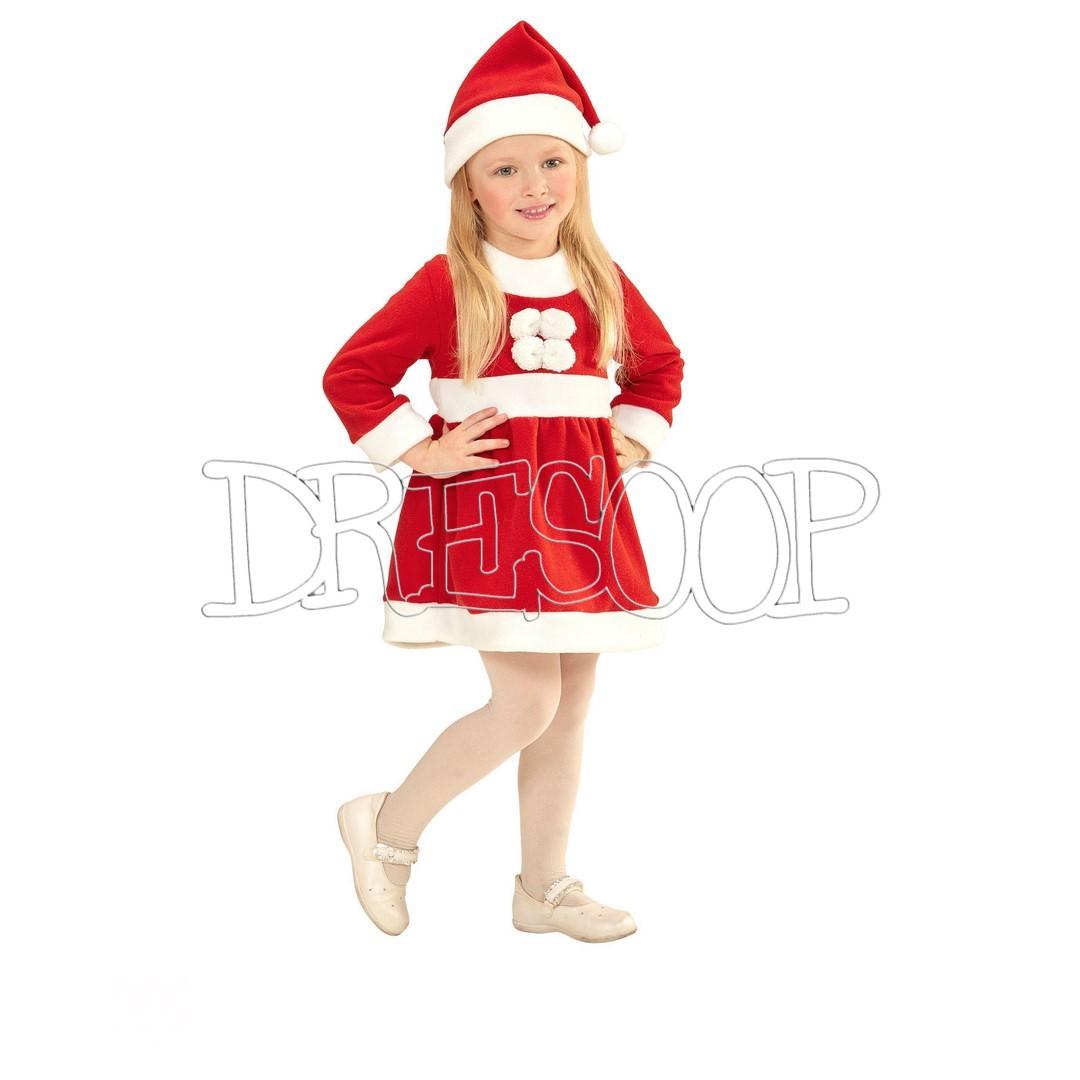 Disfraz clásico de Mamá Noel para niña