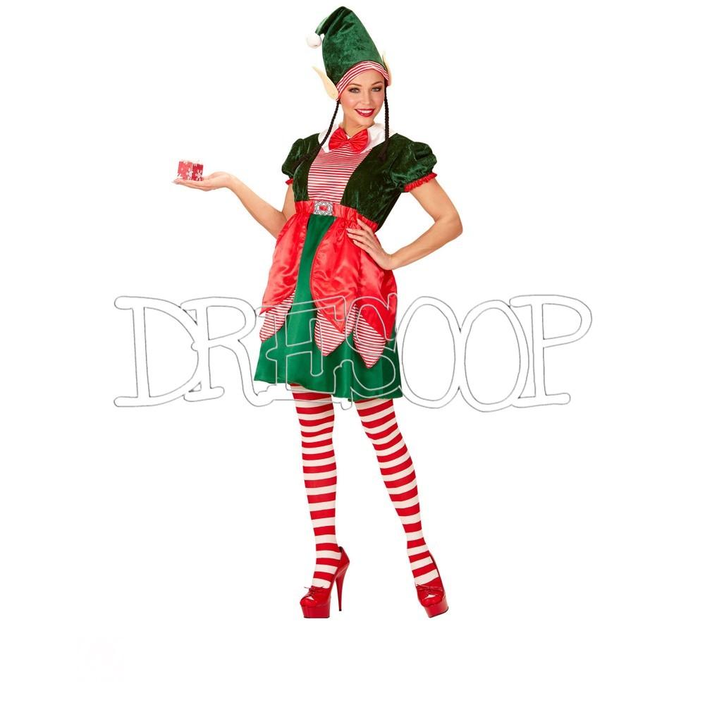 Disfraz de Elfo de Navidad para mujer