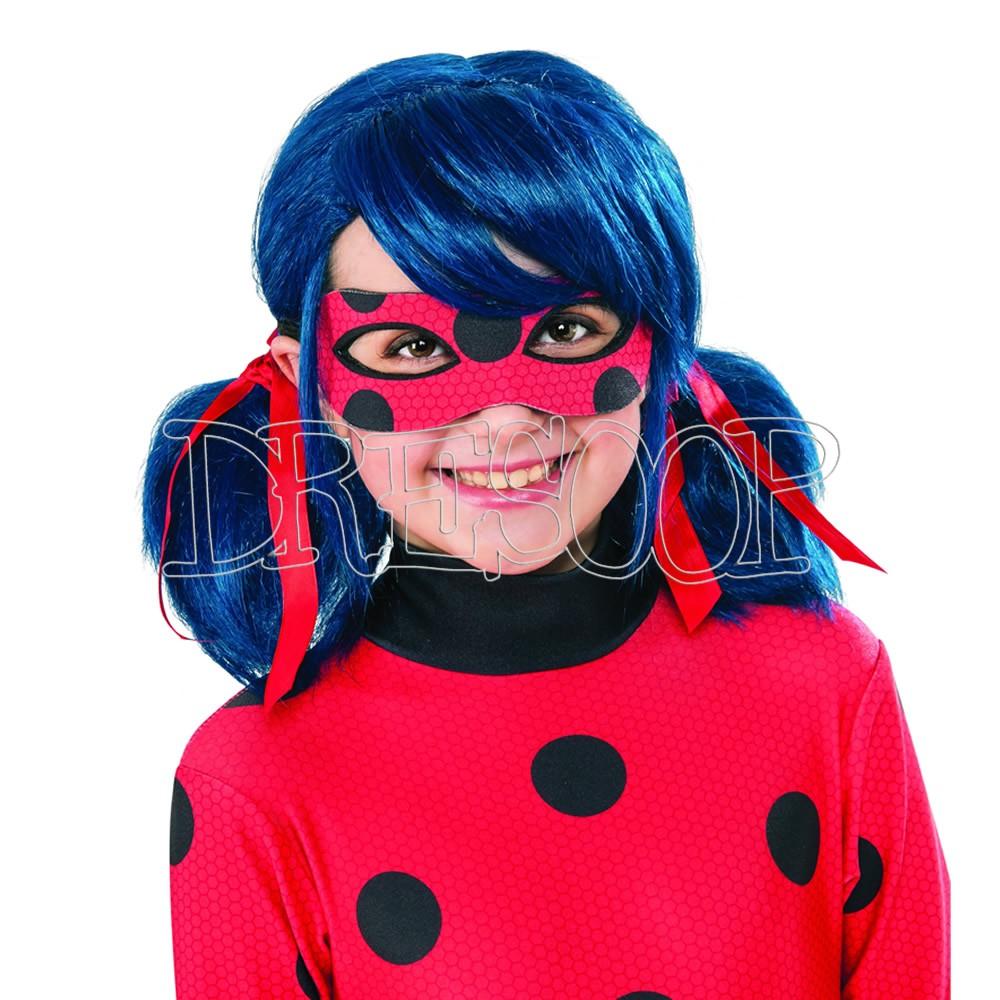 Peluca Miraculous Ladybug para niña