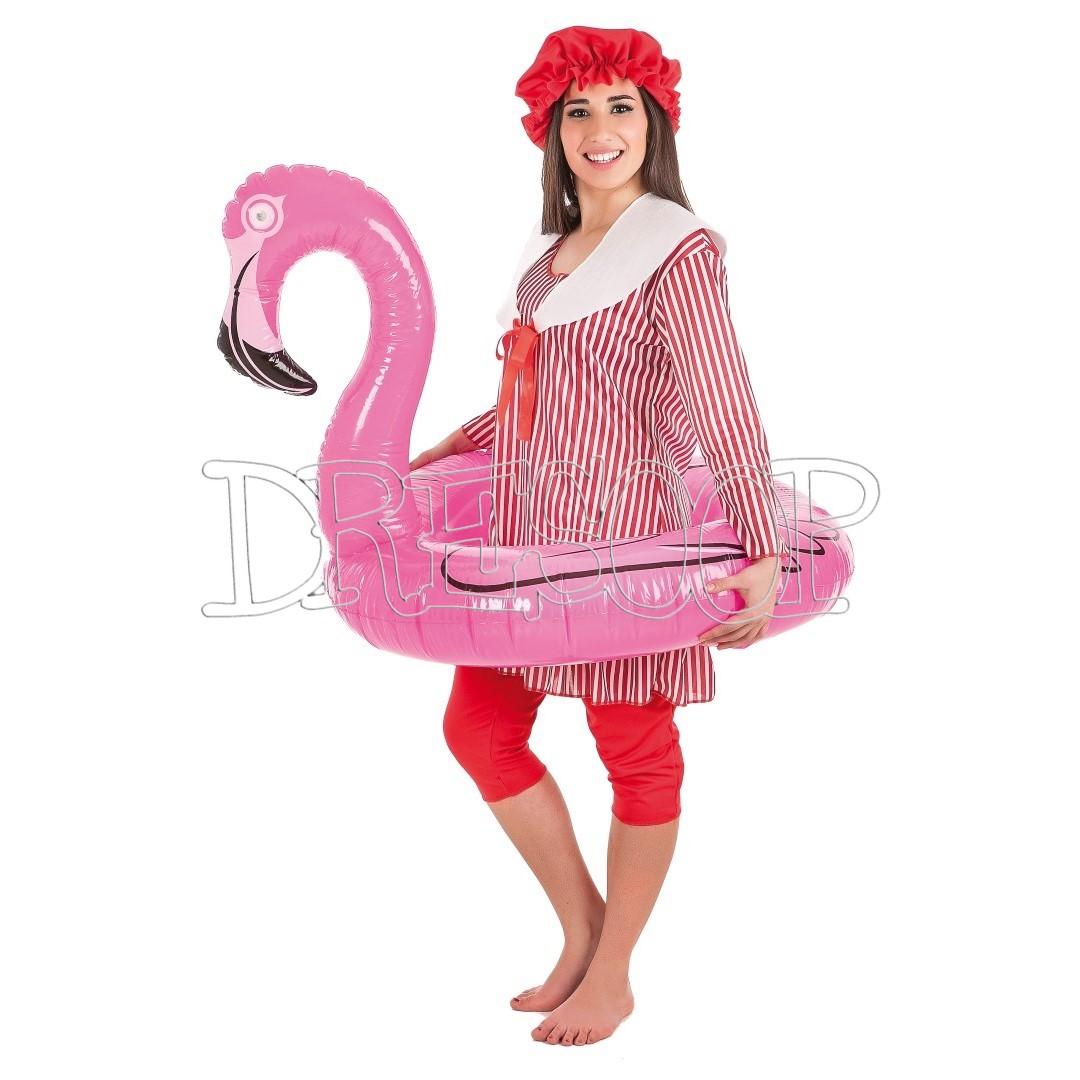 Disfraz Bañista clásica para mujer