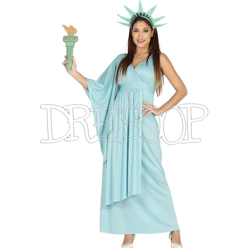 Disfraz Estátua de la libertat para mujer