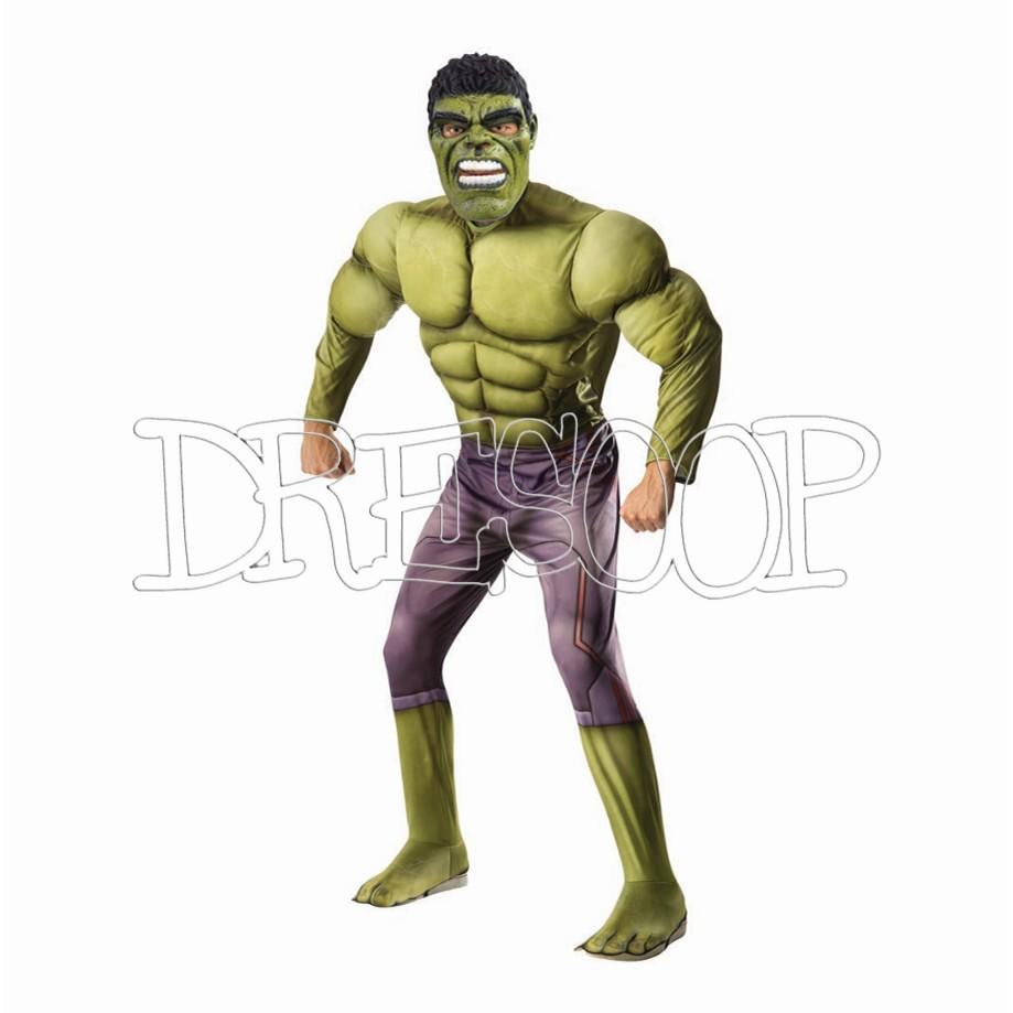 Disfraz Hulk Ragnarok musculoso para hombre