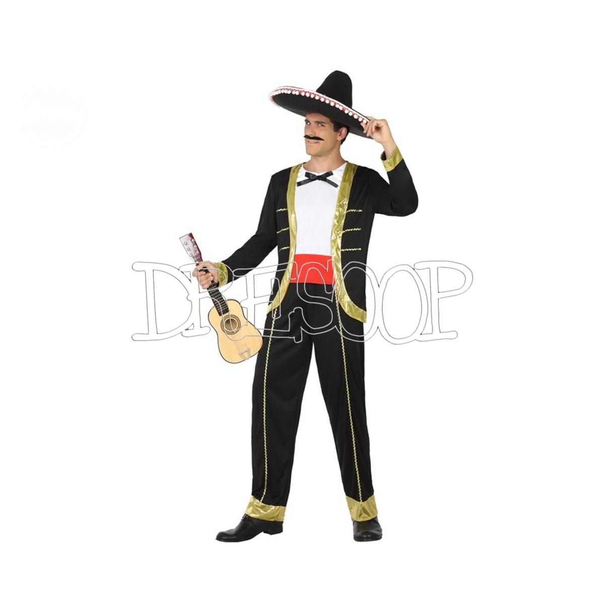 Disfraz Mariachi dorado para hombre