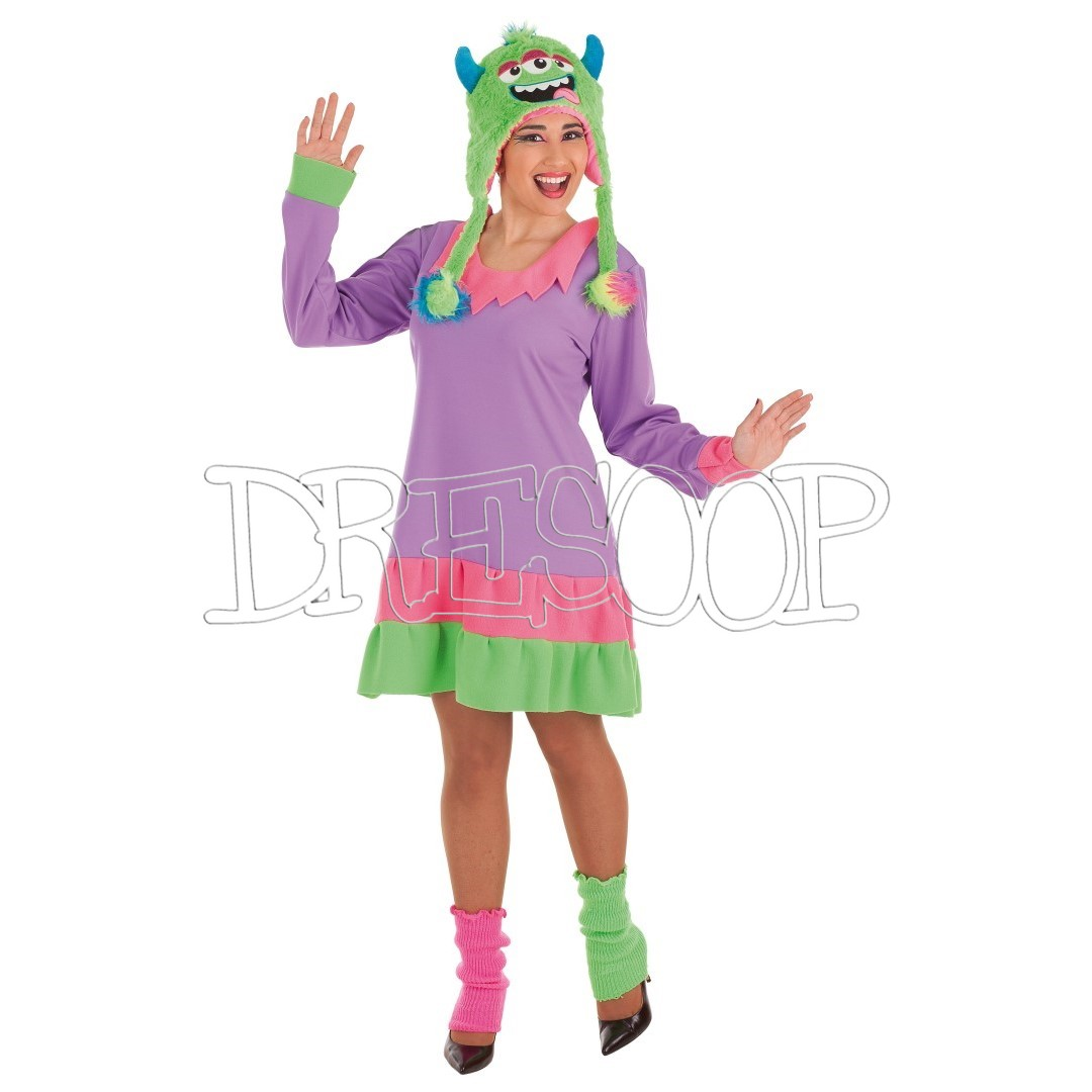 Disfraz Monstruita lila para mujer