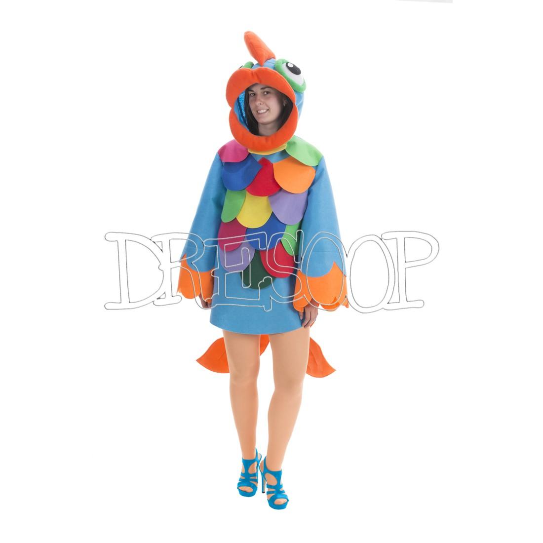 Disfraz Pez azul para adultos