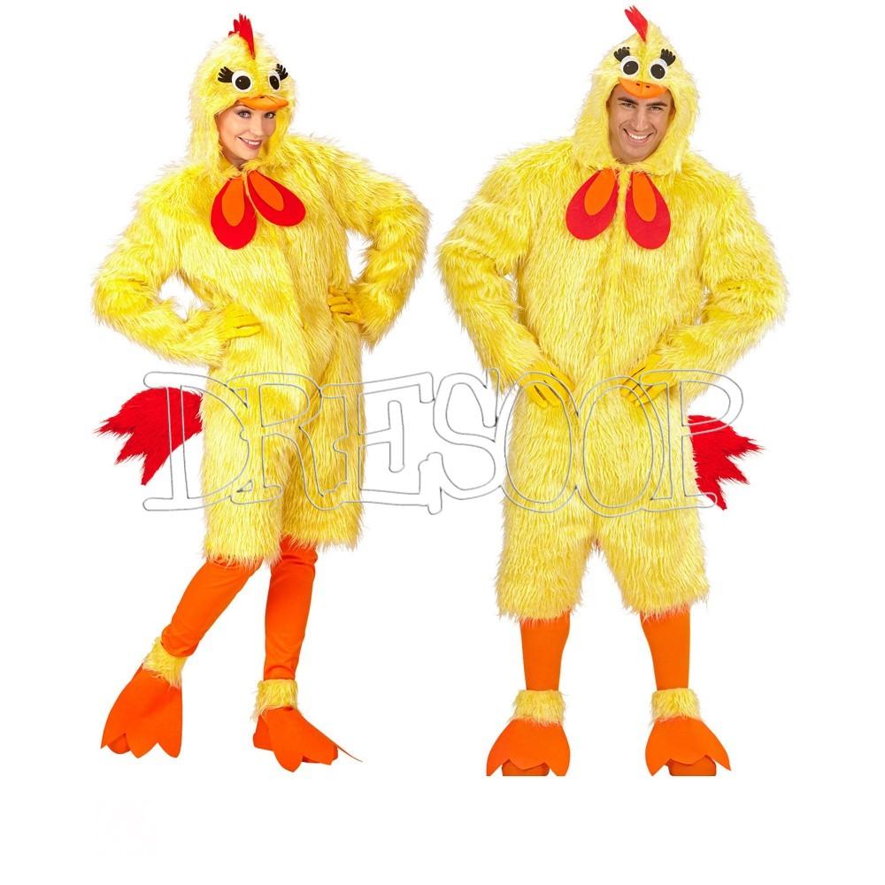 Disfraz de Pollito peluche para adultos