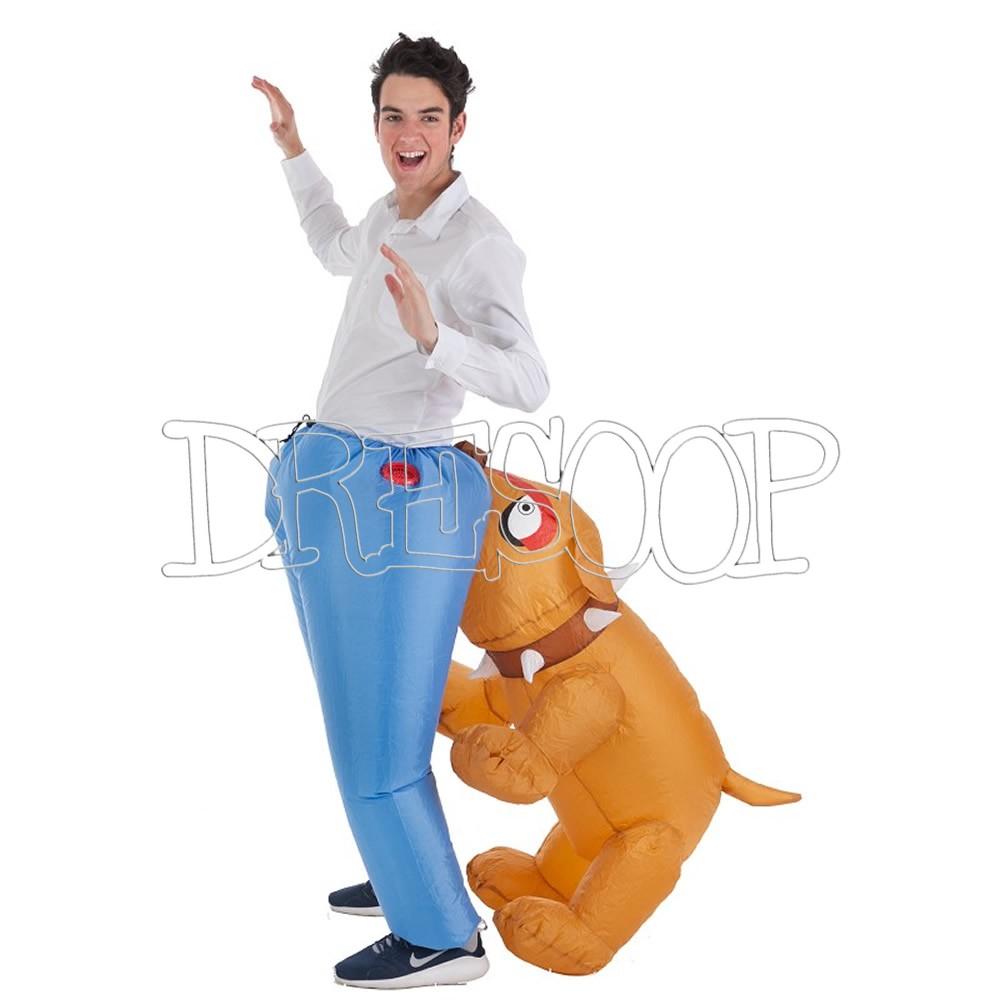 Disfraz hinchable Perro muerde culo para adulto