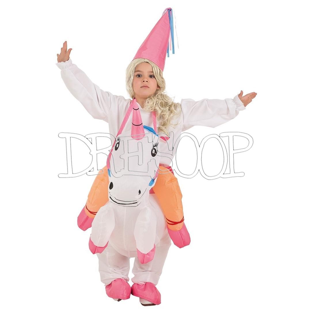 Disfraz hinchable Unicornio con princesa