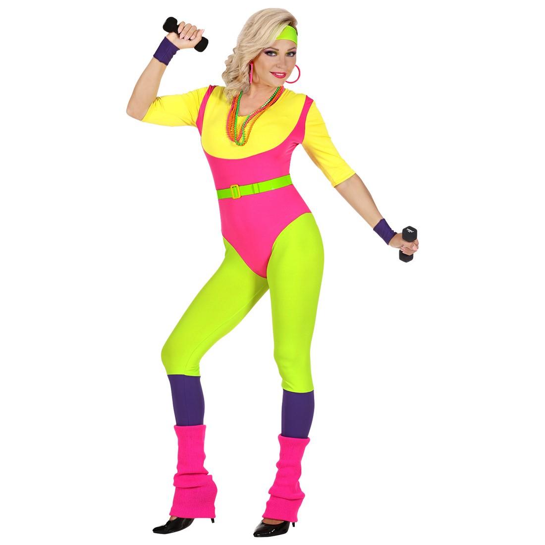 Disfraz Aerobic 80´s para mujer