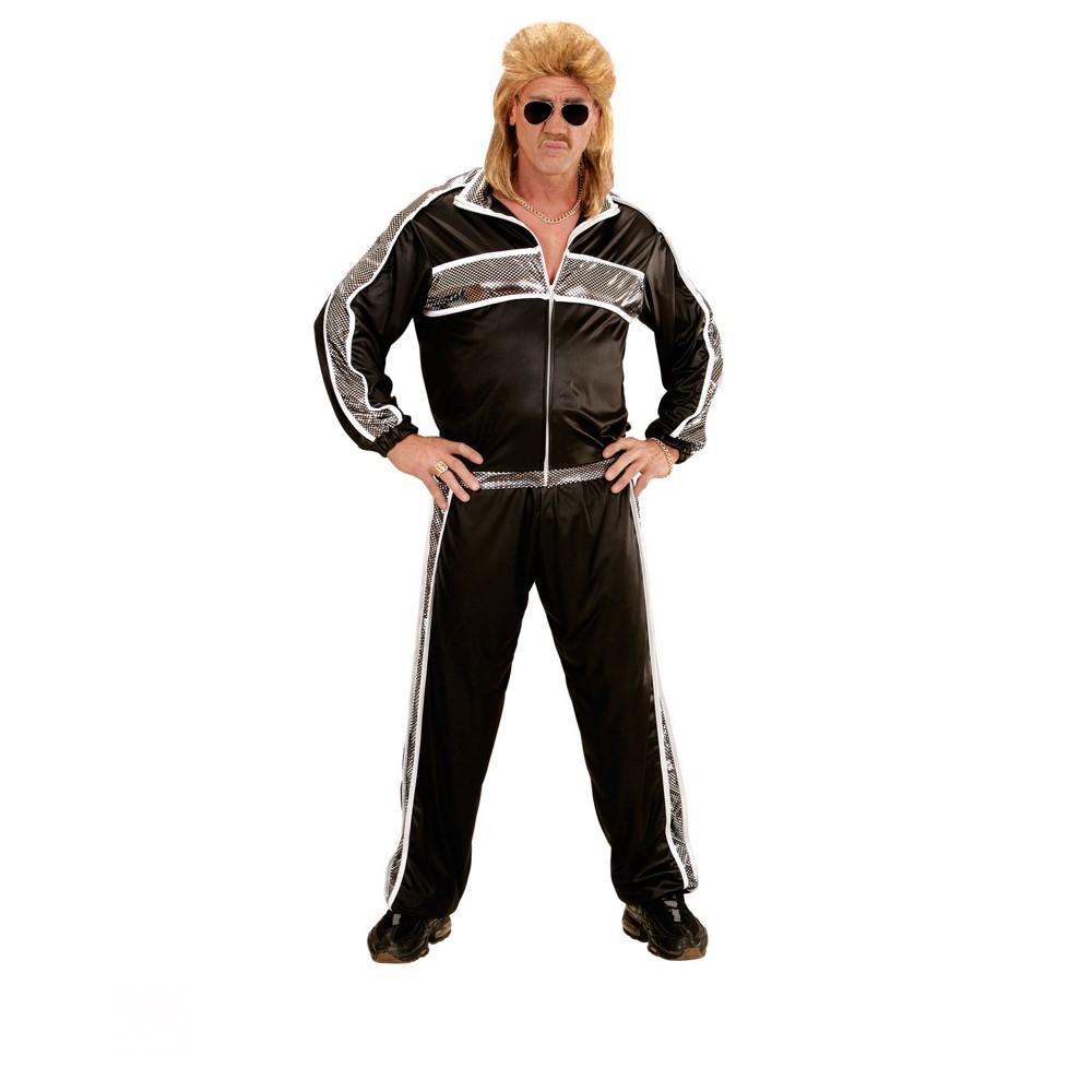 Disfraz Chándal años 80 negro para hombre