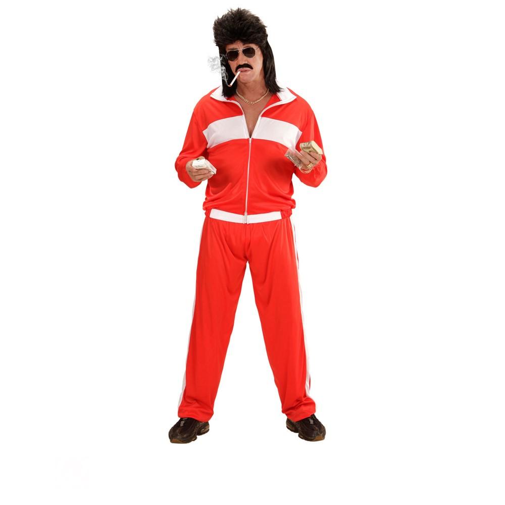 Disfraz Chándal años 80 rojo para hombre