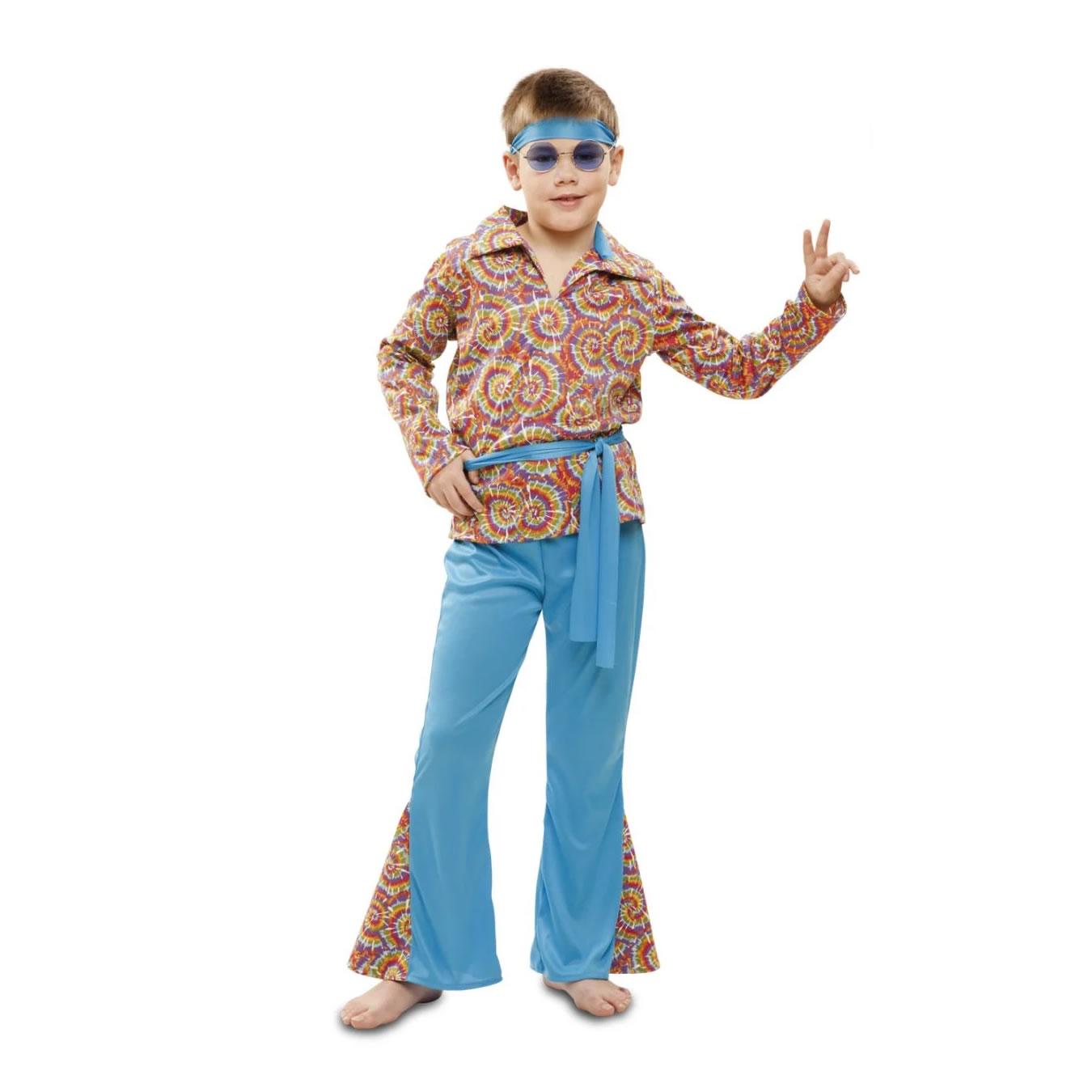 Disfraz Hippie Psicodelico para niño