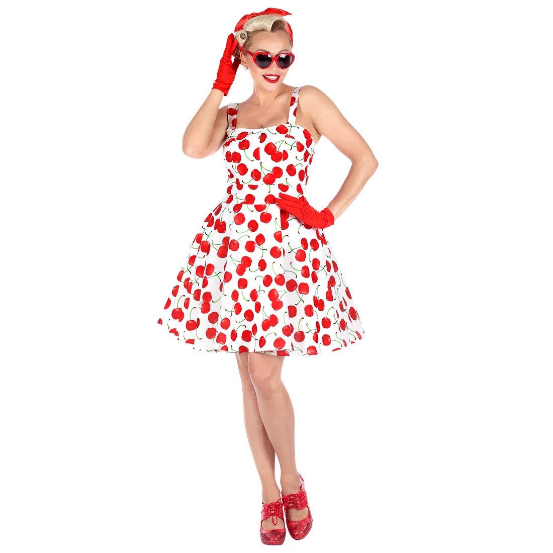 Disfraz Moda 50´s blanco para mujer