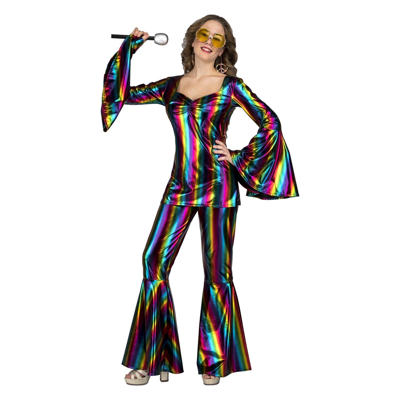 Disfraz de Disco Arcoíris para mujer