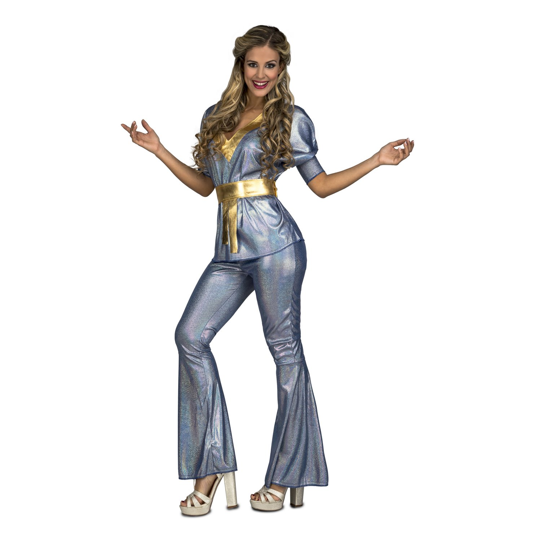 Disfraz de Disco Plata para mujer