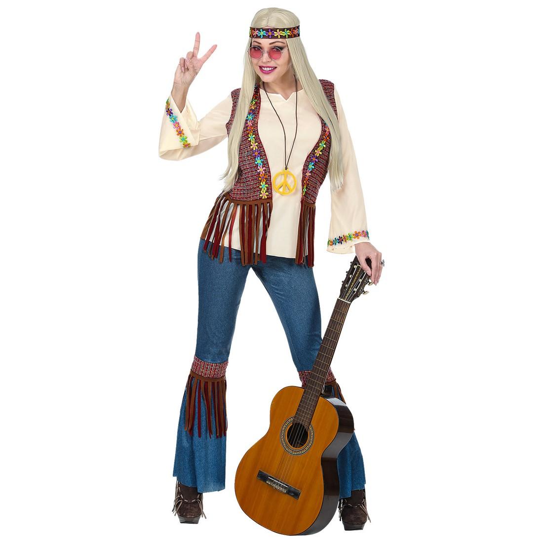 Disfraz la Hippie flor para mujer